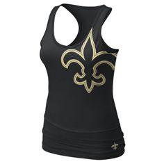 Saints Women's Black Tri-Blend Big Logo Tank  SKU ID #370526