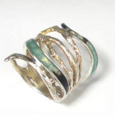 Dendro Splendida Ring by Carrie Bilbo Art Jewelry