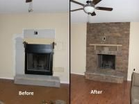 Updated Fireplace using Canyon Stone products.