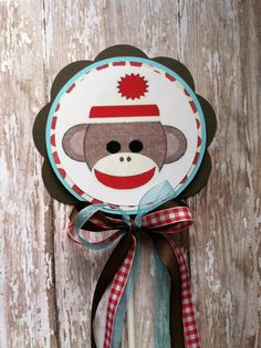 Custom sock monkey cake topper by MerryMakersPapier on Etsy Monkey First Birthday, First Birthday Parties, First Birthdays, Birthday Ideas, Sock Monkey Cakes, Sock Monkey Party, Holiday Parties, Holiday Decor, Custom Socks