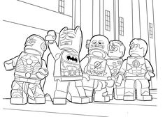 lego heroes coloring page for boys printable free lego heroes