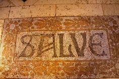 Mosaico en el Antiguo Hospital de Santa Creu i Pau