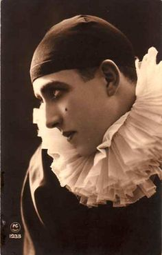 Postcard featuring a Pierrot, distributed by PC of Paris, France, 1933, photographer unknown.