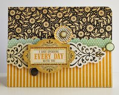 Everyday With You card *October My Scrapbook Nook* - Two Peas in a Bucket