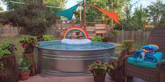 How Much Does a Stock Tank Pool Cost — Mid Modern Mama Diy Pool, Kiddie Pool, Swimming Pools Backyard, Stock Pools, Stock Tank Pool, Build Your Own Pool, Pool Cost, Backyard Creations, Backyard Pool Landscaping