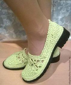Обувь ручной работы. Ярмарка Мастеров - ручная работа. Купить Приближение весны. Handmade. Ярко-зелёный, мокасины летние