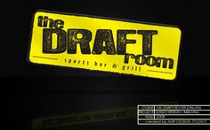 The Draft Room Sports Bar & Grill logo | by ANPDesignStudio.com