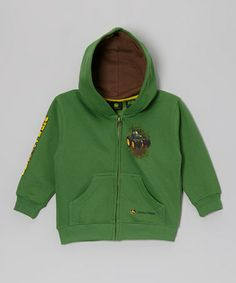 Take a look at this Green 'Dirt Magnet' Zip-Up Hoodie - Infant & Toddler by John Deere on #zulily today!