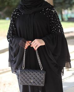 with ・・・ We take pride in incredible abaya Abaya Fashion, Muslim Fashion, Fashion Outfits, Fashion Shoot, Fashion Muslimah, Fashion Fashion, Sneakers Fashion, Korean Fashion, Fashion Ideas