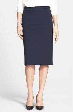 still available in every size, this theory navy pencil skirt is 33% off!