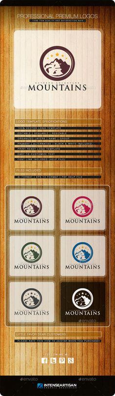 Mountain V.2 - Logo Design Template Vector #logotype Download it here: http://graphicriver.net/item/mountain-v2-logo-template/10736396?s_rank=1146?ref=nexion