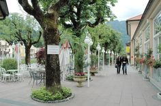 Bad Ischl is a spa town in Austria. It lies in the southern part of Upper Austria, at the Traun River in the centre of the Salzkammergut region. The town consists of the Katastralgemeinden Ahorn, Bad Ischl, Haiden, Jainzen, Kaltenbach, Lauffen, Lindau, Pfandl, Perneck, Reiterndorf and Rettenbach. It is connected to the village of Strobl by the river Ischl, which drains from the Wolfgangsee, and to the Traunsee, into which the stream empties.