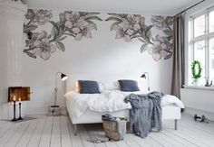 Harness the Power of the Plant in Your Bedroom Design: Go Botanical: Botanical Mural