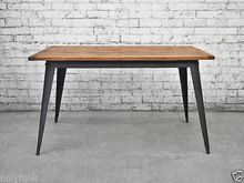 This retro Danish kitchen table has distinct vintage industrial feel and looks fantastic in any cafe or home. This mid sized Tolix table seats six hungry housemates and is a great mid sized table. Modern Kitchen Furniture, Industrial Style Furniture, Industrial Dining, Retro Furniture, Table Furniture, Vintage Industrial, Danish Furniture, Indian Furniture, Industrial Chic