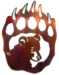 Use this bear paw and cub wall art in any home!