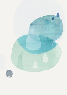A3 Abstract Shapes Art Print CIRCLES 3-