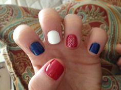 Red white and blue nails for 4th of July !