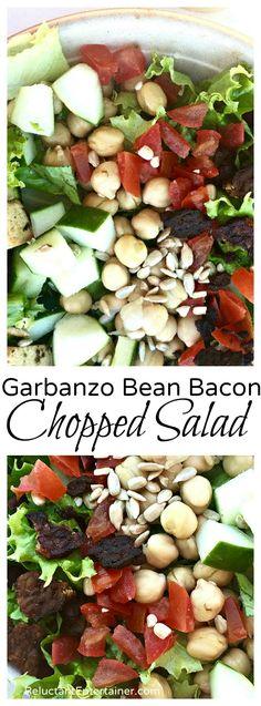Garbanzo Bean Bacon Chopped Salad