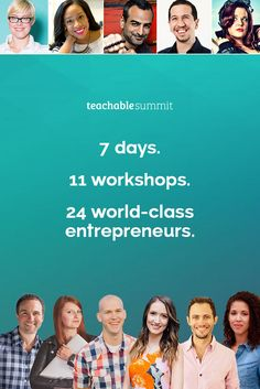 I'm joining Teachable for their 2nd annual online summit where 24 experts who have all made $1m+ online will be sharing their tips and expertise. This live training will help you form your own step-by-step action plan to grow your audience and increase online revenue by this time next month. The summit runs from November 16-22nd and it's totally free, so sign up today! http://bit.ly/2eylEvm
