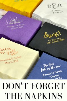 Personalized Wedding Napkins My Wedding Reception Ideas is part of fitness - Shop elegant paper wedding napkins custom printed the way you want of color, design and font options to accent your wedding reception bar, buffet and tables Wedding Shoppe, Wedding Blog, Fall Wedding, Wedding Events, Wedding Ideas, Budget Wedding, Wedding Ceremony, Wedding Inspiration, Wedding To Do List