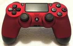Custom Red Soft Touch Dualshock 4 ps4 controller