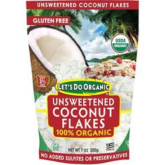 Edward & Sons, Edward & Sons, Let's Do Organic, Organic Unsweetened Coconut Flakes, 7 oz g) - iHerb Sin Gluten, Gluten Free, Simply Organic, Sustainable Farming, Baked Chips, Ovaltine, White Meat, Cake Toppings, Water Conservation