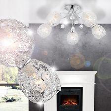 Deckenleuchte Kristall Decken Lampe Beleuchtung Chromgeflecht  Licht Wohnzimmer