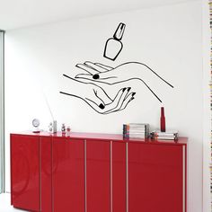 Wall Decals Manicure Hands Beauty Salon Vinyl Sticker Murals Wall Decor KG516 #Fashion