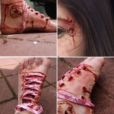 Do you agree with @Seventeen that this is without a doubt the most disgusting Converse shoe you've ever seen?  Has Halloween makeup gone too far?! With Halloween upon us gory makeup designs are all over Insta but this 16-year-old's horror makeup is so realistic I suggest you mentally prepare for several minutes before proceeding to the rest of this story.  Rani a crazy talented special effects makeup artist from Australia has blown up on Instagram for her disgustingly real designs. Her most…