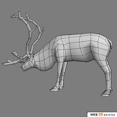 deer reindeer 3d model - Reindeer_3ds.zip by web3Dservice