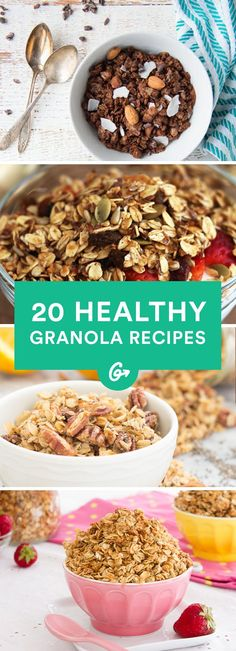 Store-bought stuff has nothing on these healthier (and cheaper) alternatives. #healthy #granola #recipes https://greatist.com/eat/homemade-granola-recipes-that-are-healthy