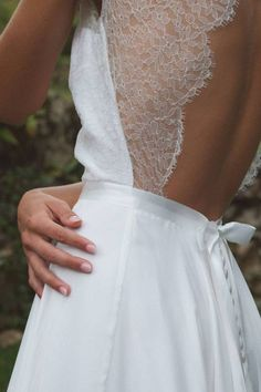 Robe de mariée dentelle nœud