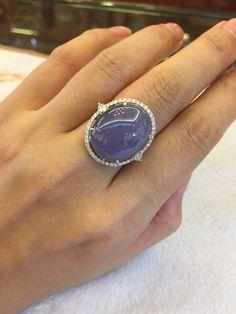Lavender Jade and Diamond Ring Jade Jewelry, Photo Jewelry, Stone Jewelry, Pendant Jewelry, Labret Jewelry, Custom Jewelry, Handmade Jewelry, Gem Diamonds, Pin On