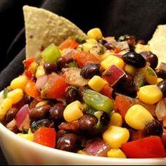 Heather's Cilantro, Black Bean, and Corn Salsa by allrecipes #Salsa #Cron #Black_Bean