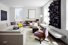An Art-Filled NYC Duplex by Steven Harris and Lucien Rees Roberts