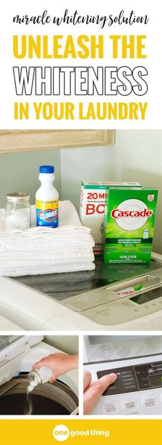 Miracle DIY laundry Whitening Solution Don't give up on those dingy whites in your wardrobe and linen closet. Try this DIY whitening solution first! It's simple to make and works laundry miracles! Deep Cleaning Tips, House Cleaning Tips, Diy Cleaning Products, Cleaning Solutions, Spring Cleaning, Cleaning Hacks, Diy Hacks, Cleaning Recipes, Cleaning Checklist