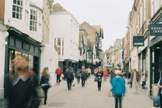 Winchester High Street. Canon AE-1 analogue photography.