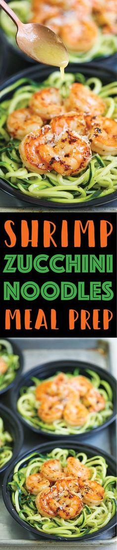 Shrimp Zucchini Noodles Meal Prep