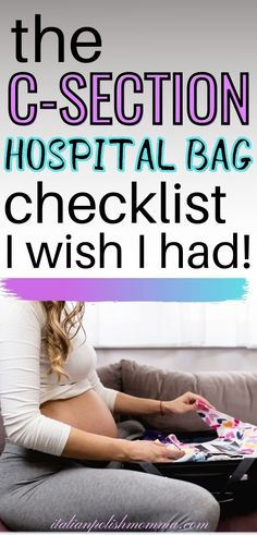 Wondering what to pack in your hospital bag for your c-section? Here is everything you need to pack for a scheduled c-section from a mom who's had 4 c-section deliveries! Don't waste your time packing things you don't need, get the hosptial bag must haves you need here! #hospitalbag #csection #csectionhospitalbag Breastfeeding After C Section, Breastfeeding Tips, Csection Hospital Bag, C Section Workout, Scheduled C Section, Hospital Bag For Mom To Be, Hospital Bag Checklist, Pregnancy Advice, Postpartum Care