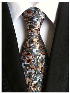 8 cm neck ties for men luxury silk mens necktie corbata black Gravata Jacquard Slim Tie Business paisley corbatas seda Paisley Tie, Formal Suits, Tie Styles, Wedding Ties, Gold Wedding, Wedding Dresses, Suit And Tie, Silk Ties, Mens Suits