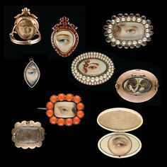 Eye Miniatures from the late 18th and early 19th centuries. Collection that belongs to David and Nan Skier.