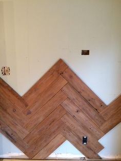 MUST PIN!  DIY Wood Herringbone Plank Wall Tutorial by Designer Trapped in a Lawyer's Body {www.designertrapped.com}