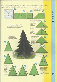 Origami fenyőfa - Hasznos információk a széncinegéről, önkéntességről és egyéb tananyagok