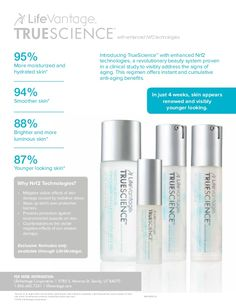 If you are interested, send me a message, Diann   TrueScience Regimen Review  http://www.lifevantage.com/ottawa