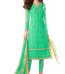 Buy Green georgette embroidered semi stitched salwar with dupatta party-wear-salwar-kameez online