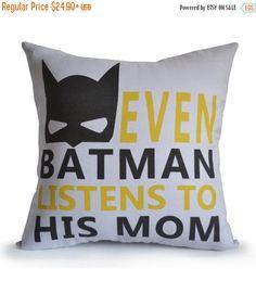 30% OFF Batman Boy Room Pillow Cover Even Batman by AmoreBeaute