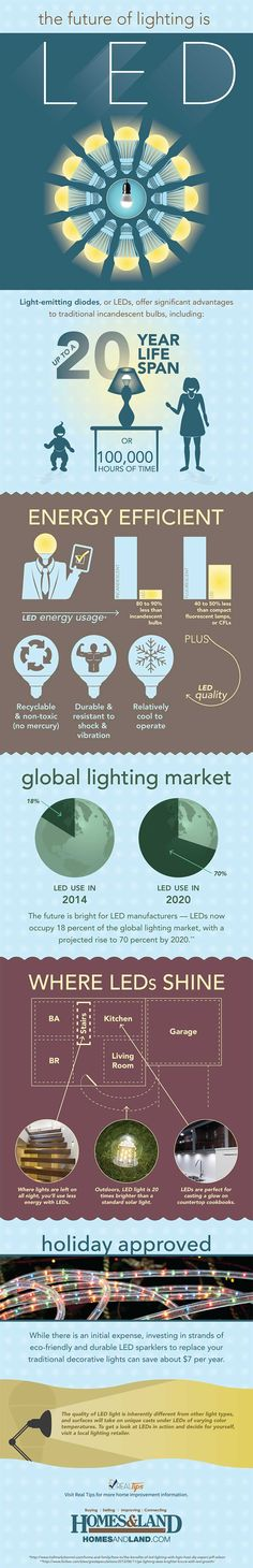 Infographic and article designed to enlighten you on all things LED. #realtips from #homesandlandmagazine