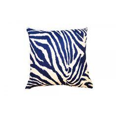 Funky Zebra Accent Pillow 100% linen