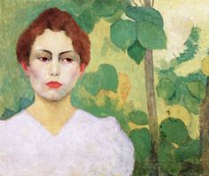 Aristide Maillol, Woman in white, 1890/ 1891, Oil on canvas, 46 x 55,9 cm, Private Collection