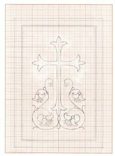 Embroidery Cards, Embroidery Patterns Free, Hand Embroidery Stitches, Hand Embroidery Designs, Counted Cross Stitch Patterns, Ribbon Embroidery, Altar Cloth, Wood Carving Patterns, Cross Designs